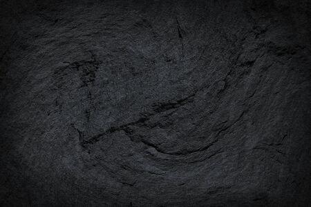 Dark grey black slate stone texture abstract background