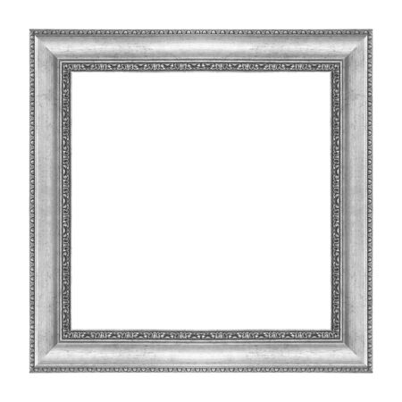 The antique metal frame isolated on white background