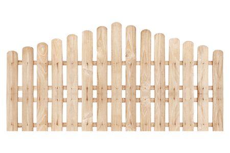 Holzzaun isoliert auf weißem Hintergrund