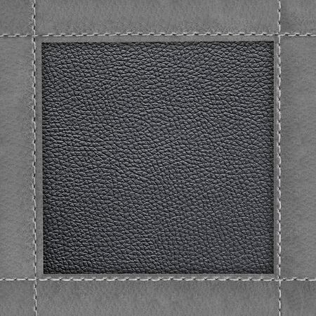 Leather frame of stitched leather texture background