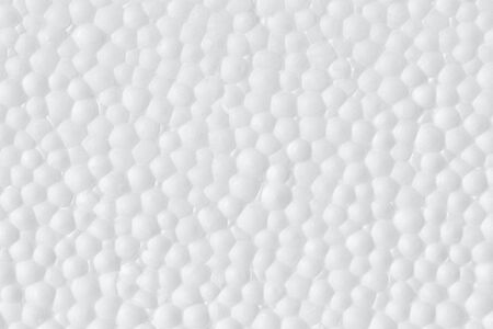Polystyrene foam texture abstract white background.