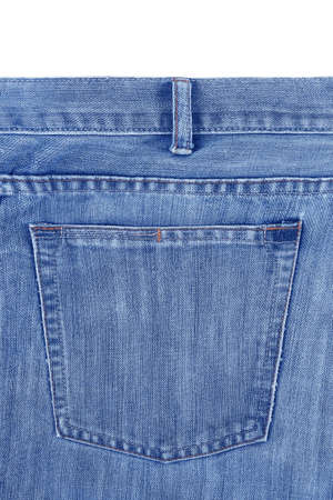 Blue jeans or denim with back pocket texture background