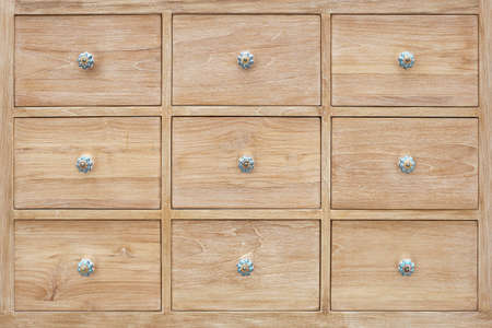 Vintage wooden drawers of wooden cabinet texture for background