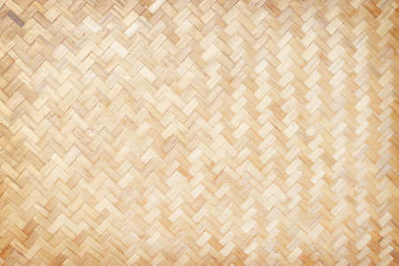 close up bamboo woven texture pattern background
