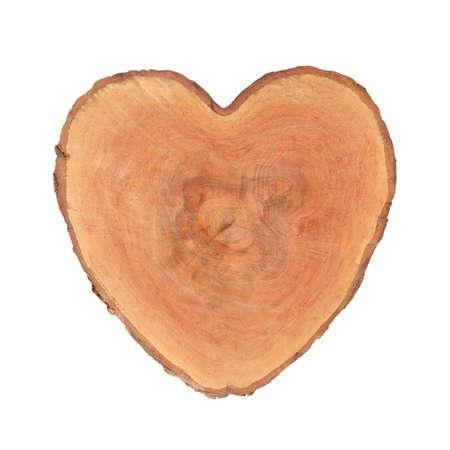 Tree stump Heart shape isolated on white background