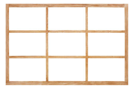 wood slide door isolated on white background with clipping path