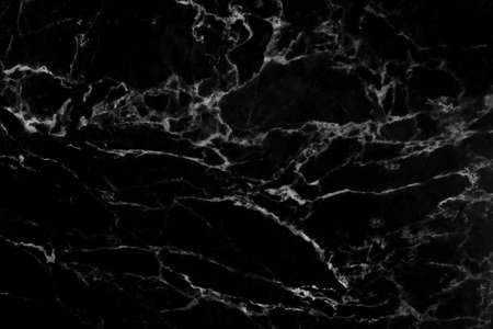 Black marble natural pattern for background, abstract black and white Stock Photo