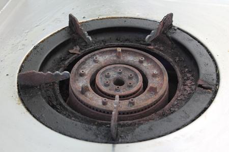 primus: Stove gas burner a fragment Stock Photo