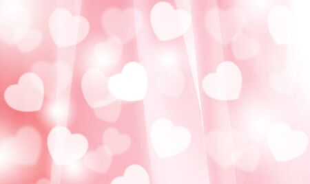 Blurred bokeh heart on pink fabric Give a sense of warm love, happy can be used as a background. Or enter text 스톡 콘텐츠