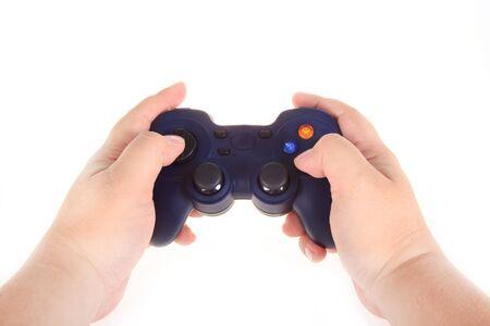 joy pad: PC game pad joystick isolated on white background Stock Photo
