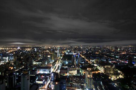 Thailand Bangkok downtown at night  photo