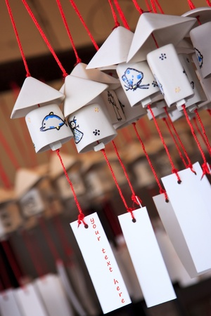 wind chime:  Decorative japanese bell or furin Stock Photo