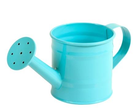Green pastel color gardening watering pot  Standard-Bild