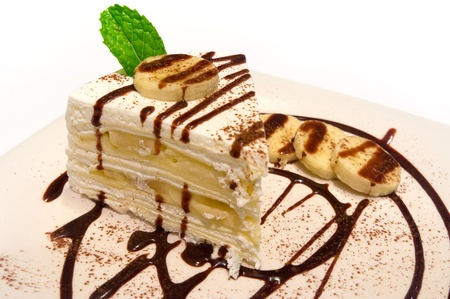 hot chocolate banana cake