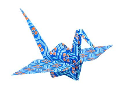origami oiseau: Colorful traditionnelle oiseau origami japonais