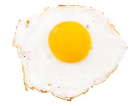chicken egg: Crispy fried chicken egg isolated on white background