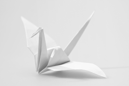 Japanese paper craft origami birds Stock Photo