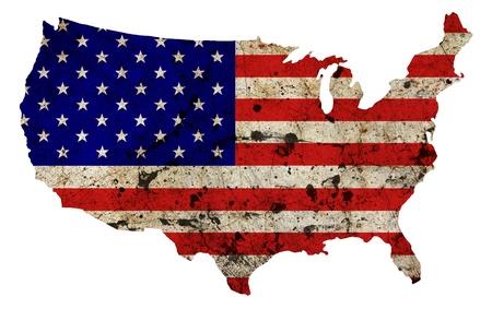US border outline map isolated on white background  photo