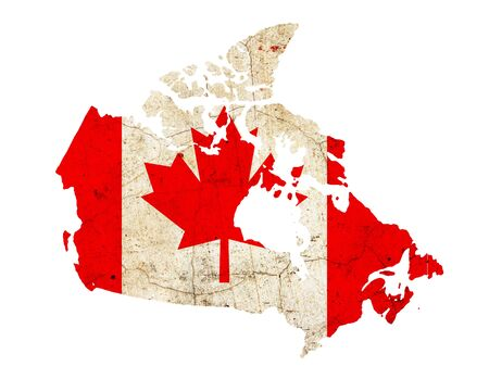 Canada border outline map isolated on white background