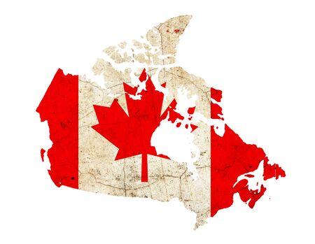 Canada Border overzichtskaart op een witte achtergrond