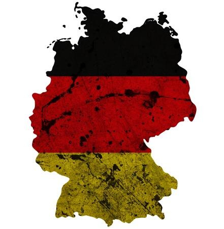 bandera de alemania: La frontera de Alemania mapa de contorno aisladas sobre fondo blanco