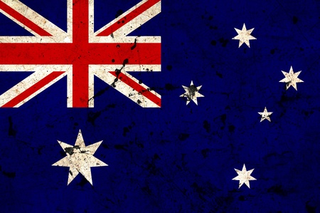 Australia flag painted on grunge old cement wall Stock Photo - 13070517