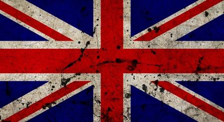 bandera inglaterra: Bandera de Inglaterra pintado en la pared de cemento del grunge de edad Foto de archivo