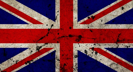 England flag painted on grunge old cement wall Stock Photo - 13070520