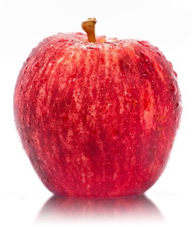 Red Fuji apple isolated on white background photo
