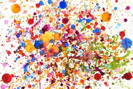 Colorful vivid water color splash background