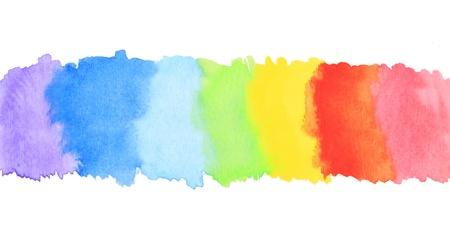 Rainbow watercolor paint stripe