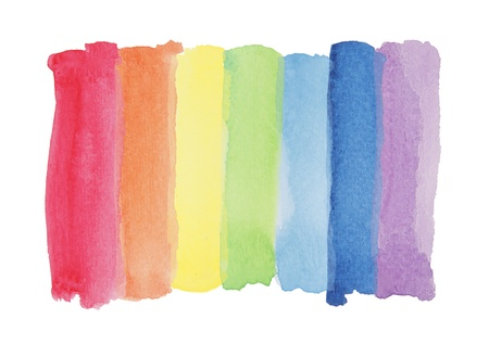 Rainbow watercolor paint stripe photo