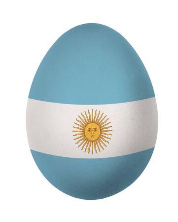 bandera argentina: Colorido Argentina bandera de huevos de Pascua aisladas sobre fondo blanco Foto de archivo