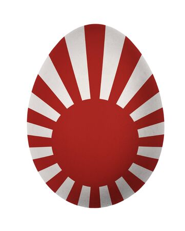 Colorful Japan flag Easter egg isolated on white background photo