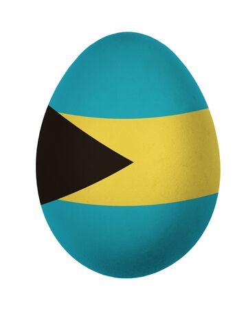 bahamas celebration: Colorful Bahamas flag Easter egg isolated on white background