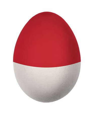 Colorful Indonesia flag Easter egg isolated on white background  photo