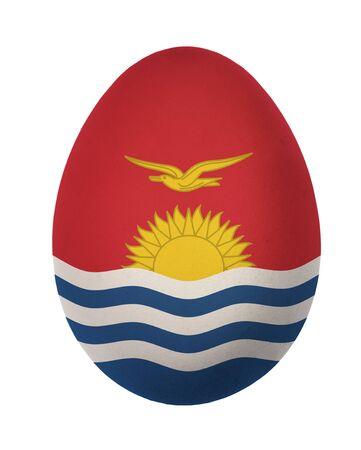 kiribati: Colorful Kiribati flag Easter egg isolated on white background Stock Photo