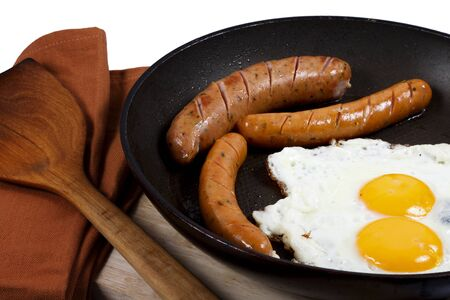 Egg and veal sausage breakfast Stock Photo - 18049067
