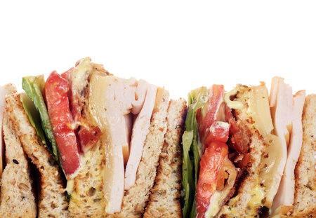 Chicken club sandwich isolated on white background  photo