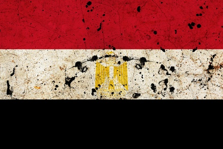 Egypt dirty old grunge flag  photo