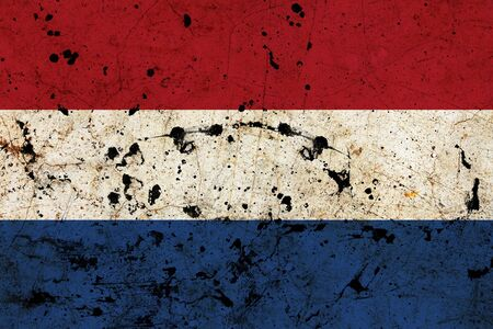 Holland dirty old grunge flag  photo