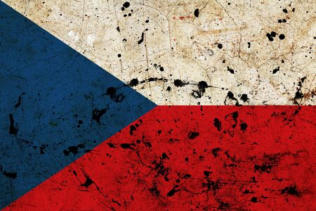 Czech Republic dirty old grunge flag  photo