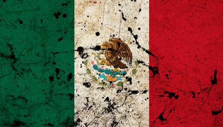Mexico dirty old grunge flag  photo