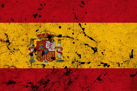 Spain dirty old grunge flag  photo