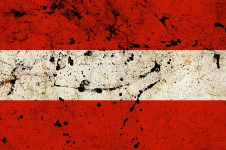 Austria dirty old grunge flag  photo