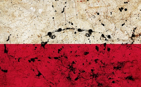 Poland dirty old grunge flag  photo