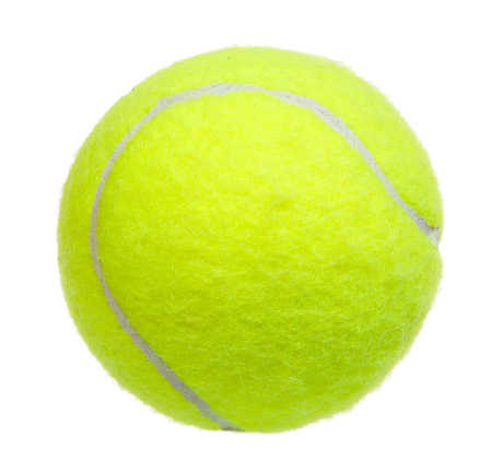 recreational sport: Tennis ball isolated on white background Stock Photo