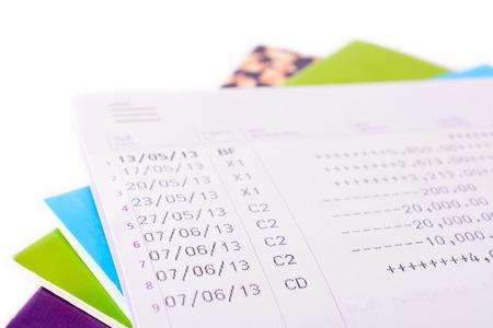 bank records: Bank book account balance