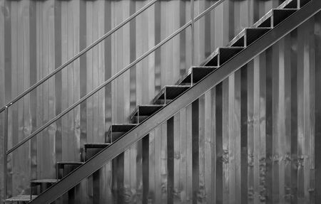 grunge steel stair photo