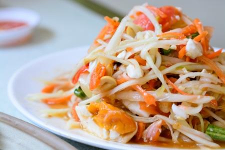 somtum: Thai spicy papaya salad som-tum